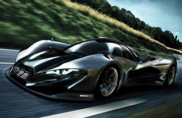 обоя mercedes-benz sl gtr concept, автомобили, 3д, gtr, sl, mercedes-benz, concept