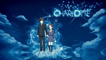 обоя аниме, charlotte, брат, сестра