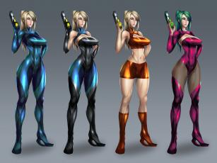 обоя рисованное, комиксы, девушка, фон, взгляд, униформа, пистолет