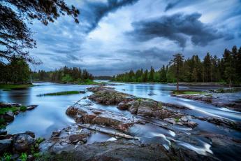 обоя природа, реки, озера, лес, река, облака