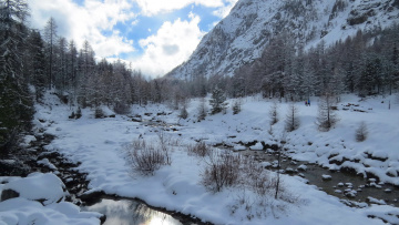обоя природа, реки, озера, снег, лес, горы
