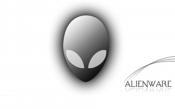 обоя компьютеры, alienware, логотип, фон