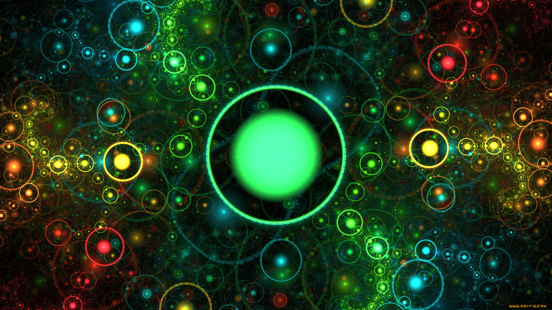 графика абстракция круги цвета  № 2063530 без смс