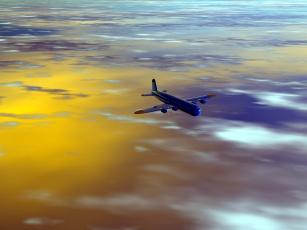 Картинка авиация 3д рисованые graphic полет