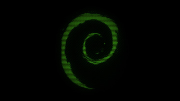 обоя компьютеры, debian, логотип, фон
