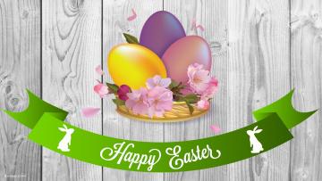 обоя праздничные, пасха, яйца, цветы