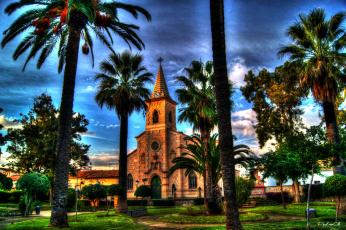 Картинка города католические соборы костелы аббатства валенсия испания jacarilla