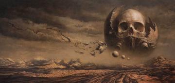 Картинка фэнтези иные миры времена череп