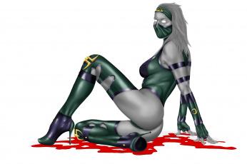 Картинка видео+игры mortal+kombat jade арт эротика кровь каблуки костюм девушка игра маска