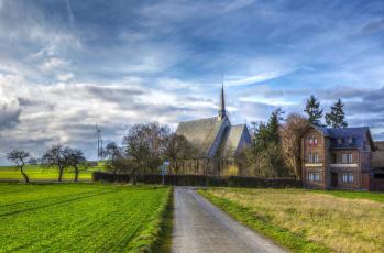 Картинка германия++рёс города -+католические+соборы +костелы +аббатства дома рёс германия дорога поля