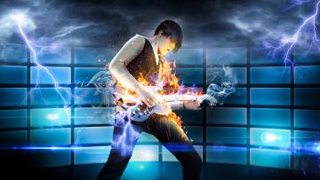 обоя музыка, - другое, фон, мужчина, игра, гитара