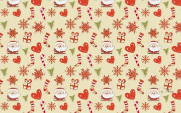 обоя праздничные, векторная графика , новый год, снежинки, дед, мороз