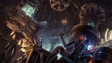 Картинка the elder scrolls skyrim видео игры девушка нежить