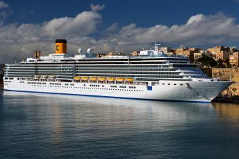 Картинка costa+deliziosa корабли лайнеры лайнер круизный