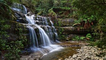 Картинка природа водопады река лес водопад