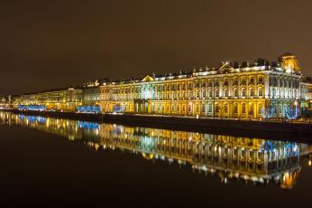 обоя saint peterburg, города, санкт-петербург,  петергоф , россия, ночь, огни