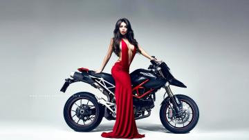обоя girls and moto 10, мотоциклы, мото с девушкой, moto, girls