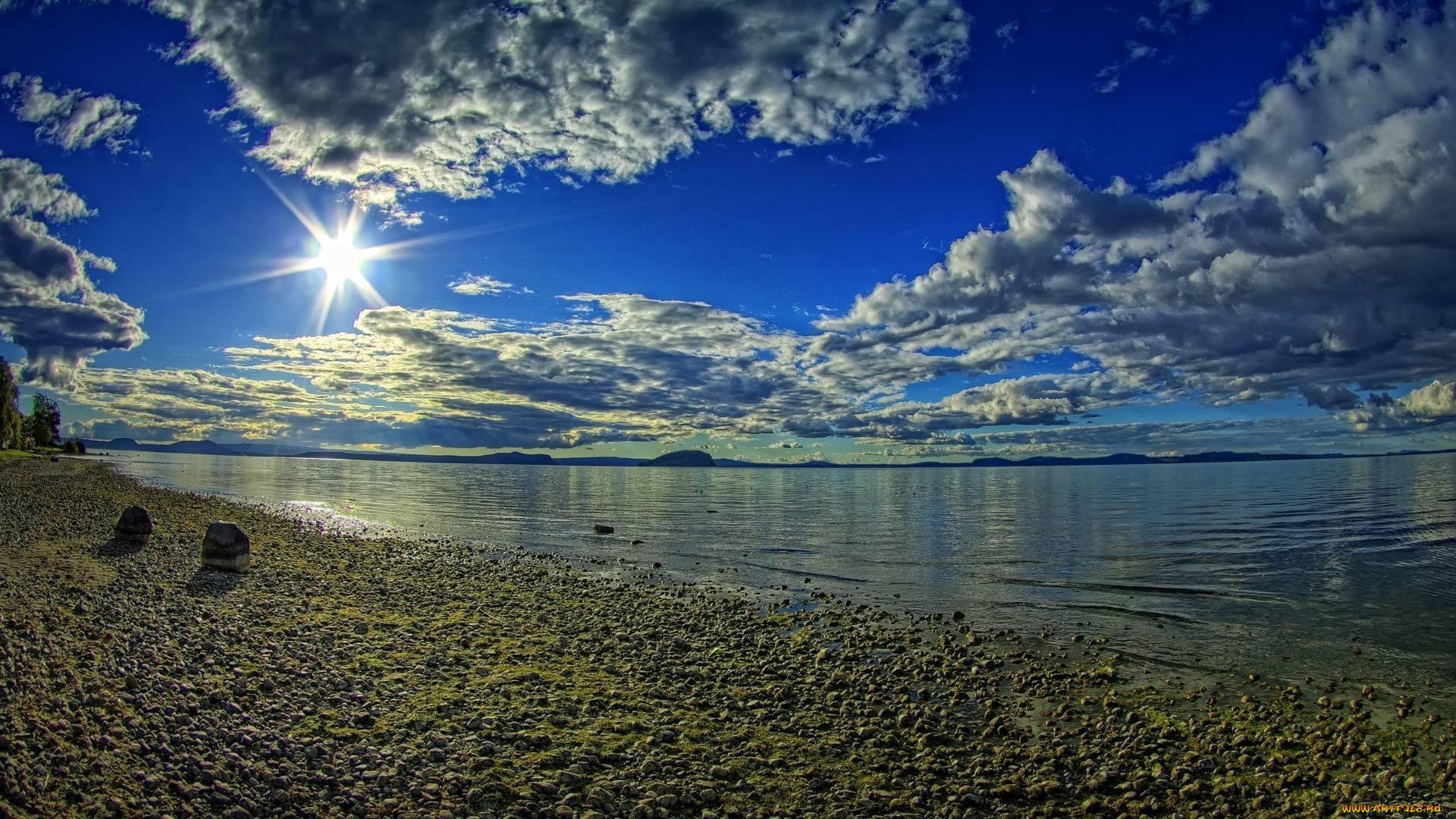 облака лучи горы вода без смс