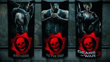 Картинка видео+игры gears+of+war+3 шутер игра 3 персонажи war of gears