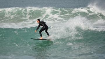 обоя спорт, серфинг, доска, брызги, волна