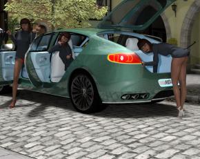 обоя 3д графика, люди-авто, мото , people- car ,  moto, фон, взгляд, девушки