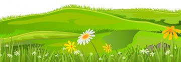 обоя векторная графика, природа , nature, луг, цветы