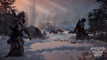 обоя horizon zero dawn,  the frozen wilds, видео игры, персонажи