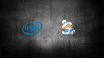 обоя компьютеры, intel, логотип, фон