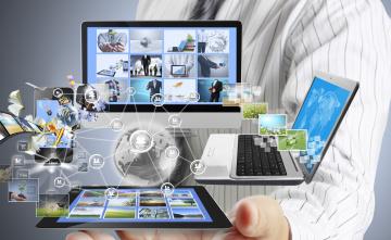 обоя компьютеры, мониторы,  ноутбуки, логотип, фон