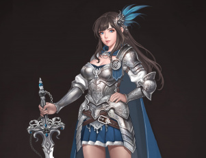 Картинка фэнтези девушки девушка меч