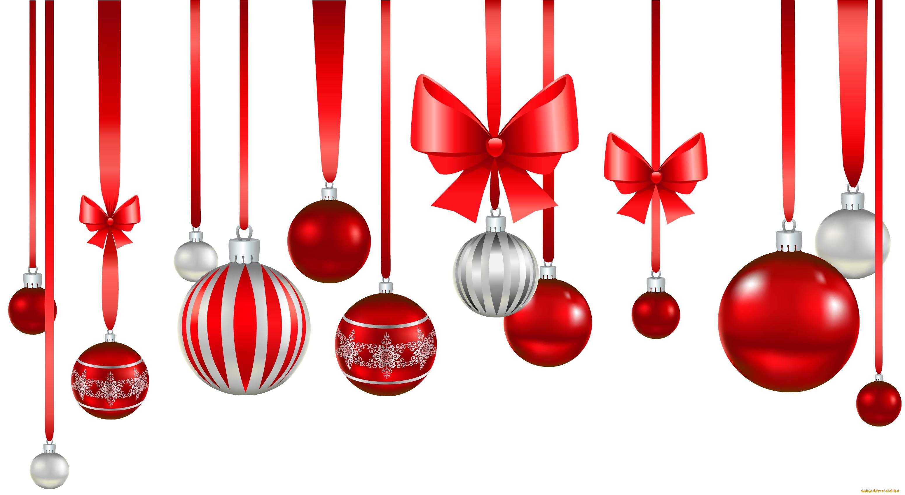 Картинки новогодних украшений без фона