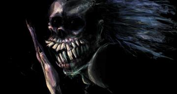 обоя фэнтези, нежить, зубы, существо, фон