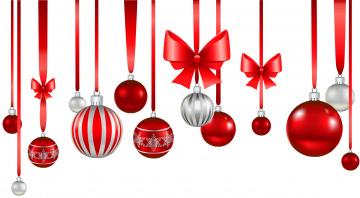 обоя праздничные, векторная графика , новый год, бантики, шары, фон