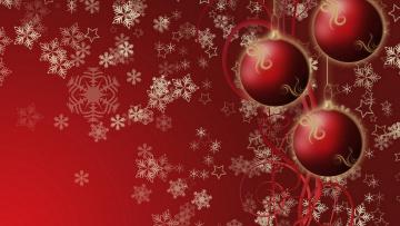 обоя праздничные, векторная графика , новый год, звездочки, снежинки, шарики