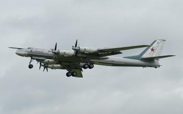 Картинка стратегический бомбардировщик ту 95 авиация боевые самолёты