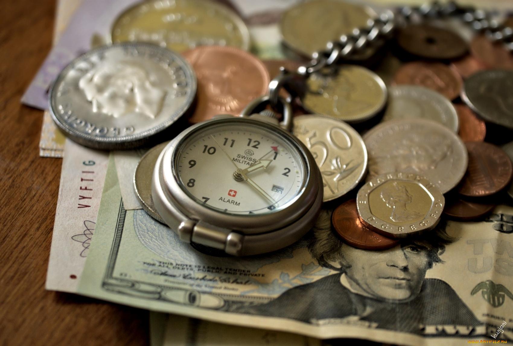 Часы и монеты скачать