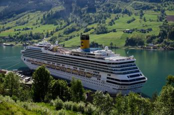 Картинка costa+fortuna корабли лайнеры лайнер круиз