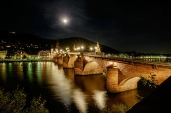 обоя города, - мосты, простор