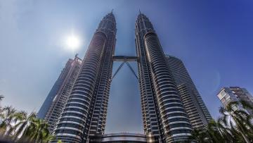обоя города, куала-лумпур , малайзия, простор