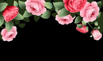обоя векторная графика, цветы , flowers, розы, фон, цветы