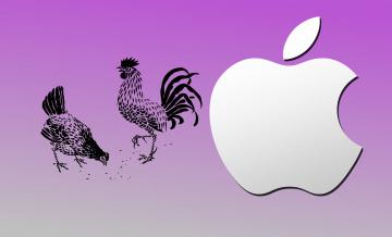 обоя компьютеры, apple, фон, логотип