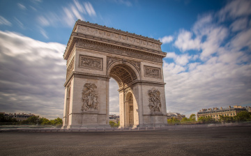 обоя arc de triomphe, города, париж , франция, арка, площадь