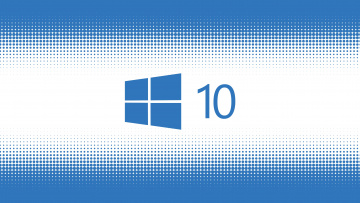 обоя компьютеры, windows  10, логотип, фон