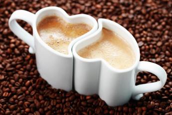 Картинка еда кофе кофейные зёрна чашки
