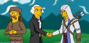 Картинка мультфильмы the simpsons персонажи