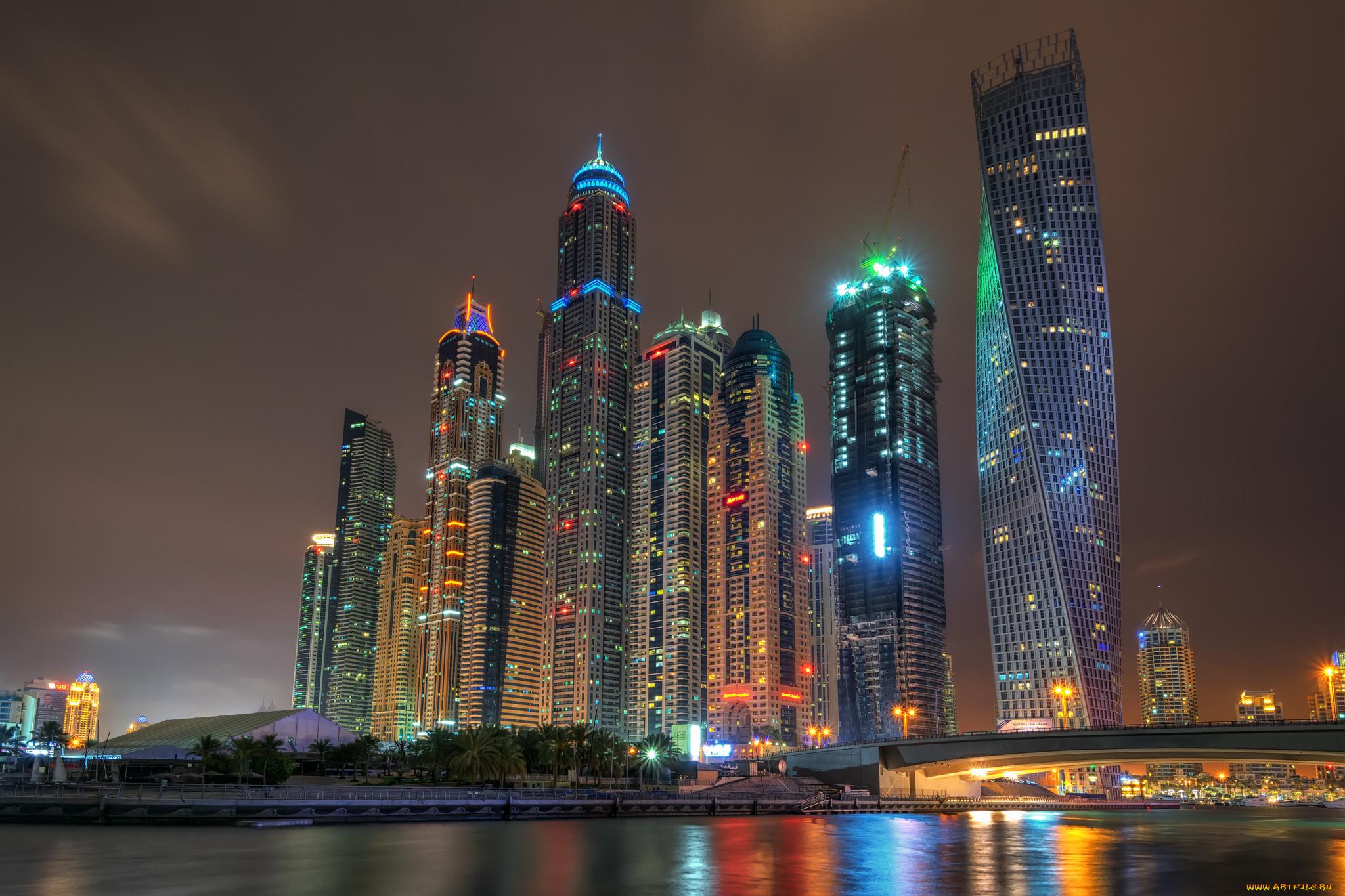 страны архитектура небоскреб рассвет Дубаи объединенные арабские эмираты  № 2209905 без смс