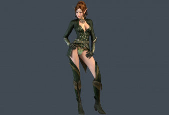 Картинка 3д+графика эльфы+ elves фон девушка униформа эльф