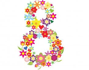 обоя праздничные, международный женский день - 8 марта, фон, цветы