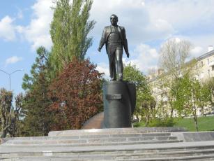 обоя памятник ю, гагарину, города, - памятники,  скульптуры,  арт-объекты, город, памятник