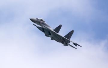 обоя авиация, боевые самолёты, сверхманевренный, су-35, истребитель, многоцелевой, самолет